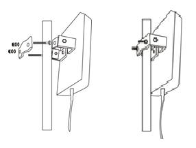 Comment fixer l'antenne panneau extérieure