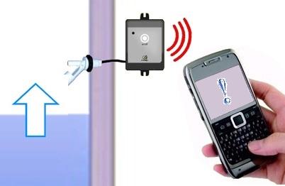 Visuel de système de télécommande via GSM